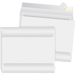 "Business Source Tyvek Side-openning Envelopes - Document - 10"" Width x 13"" Length - 2"" Gusset - Peel & Seal - Tyvek - 100 / Carton - White"