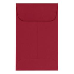 LUX Coin Envelopes, #1, Gummed Seal, Garnet, Pack Of 500