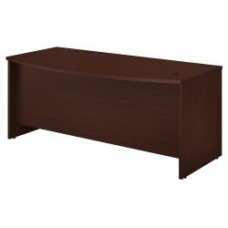 "Bush Business Furniture Studio C Bow Front Desk, 72""W x 36""D, Harvest Cherry, Standard Delivery"