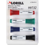 Lorell Magnetic Cap Whiteboard Markers Assorted