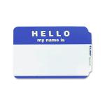 Maco Name Badges Hello Blue Pack