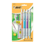 BIC® Velocity® Mechanical Pencils, 0.9 mm , Assorted Barrel Colors, Pack Of 4