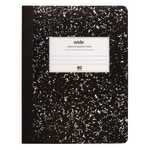 """Office Depot® Brand Schoolio Marble Composition Book, 9 3/4"""" x 7 1/2"""", Wide Ruled, 80 Pages (40 Sheets), Black/White"""