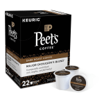 Deals on Peet's Coffee Major Dickason's Coffee Single-Serve K-Cup 22-Ct