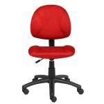 Boss Microfiber Task Chair Red