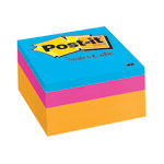 "Post-it® Notes Memo Cubes, 3"" x 3"", Orange Wave, Pack Of 1 Cube"