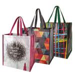 """Office Depot® Brand Reusable Polypropylene Shopping Bag, 13 1/2""""H x 15""""W x 9 1/4""""D, Assorted Colors"""