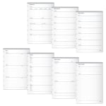 "TUL™ Limited Edition Custom Note-Taking System Discbound Organization Inserts, Junior Size (5-1/2"" x 8-1/2""), White, Pack Of 50 Inserts"