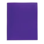 Office Depot® Brand 2-Pocket Poly Folder with Prongs, Letter Size, Purple