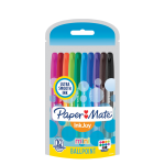 Paper Mate® InkJoy® Mini 100RT Ballpoint Pens, Medium Point, 1.0 mm, Assorted Ink Colors, Pack Of 10 Pens