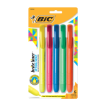 BIC® Brite Liner Retractable Highlighters, Assorted Colors, Pack Of 5