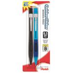 Pentel® Quicker Clicker™ Mechanical Pencil, 0.5mm, #2 Lead, Assorted Barrel, Pack Of 2