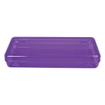 """Innovative Storage Designs Stretch Pencil And Ruler Box, 13 1/2"""" x 4 9/10"""" x 2 1/2"""", Assorted Colors (No Color Choice)"""