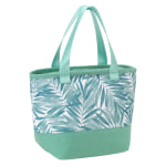 "Office Depot® Insulated Lunch Tote, 8-1/2""H x 12-13/16""W x 5-1/2""D, Palms, Green/White"