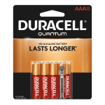 Duracell® Quantum AAA Alkaline Batteries, Pack Of 8