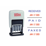 Office Depot Brand Date Message Stamp