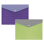 "Office Depot® Brand Poly Envelope, With Snap Closure, 9 1/16"" x 12 1/4"", Assorted Colors"