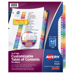 Table of Contents Dividers