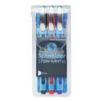 Schneider Slider Memo XB Ballpoint Pens, Extra Bold Point, 1.4 mm, Assorted Barrels, Assorted Ink Colors, Pack Of 3