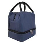 "Office Depot® Solid Lunch Box With Bottom Zipper, 9-7/16""H x 7""W x 6-1/8""D, Navy Blue"