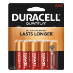 Duracell® Quantum AA Alkaline Batteries, Pack Of 8