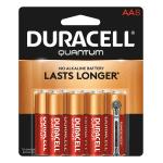 Duracell® Quantum AA Alkaline Batteries, Pack Of 8