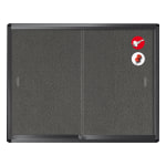 MasterVision Enclosed Fabric Bulletin Board Cabinet