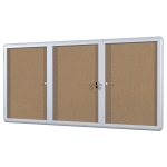 MasterVision Anodized Aluminum Frame Enclosed Cork
