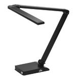 "Realspace® Extendable Z-Bar LED Task Lamp, Adjustable, 25""H, Black"