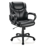 Deals on Brenton Studio Mayhart Vinyl Mid-Back Chair