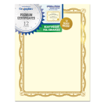 Geographics Heavyweight Certificate Kits Letter Paper