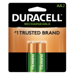 Duracell® NiMH Rechargeable AA Batteries, Pack Of 2