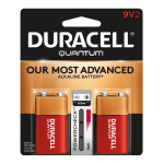 Duracell® Quantum Alkaline 9-Volt Batteries, Pack Of 2