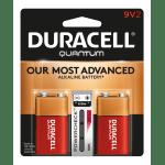 Duracell® Quantum Alkaline 9-Volt Batteries, Pack Of 2