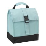 "Office Depot® Insulated Lunch Tote With Buckle Closure, 15-3/4""H x 8-7/16""W x 5-15/16""D, Blue/Black"