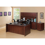 Lorell Essentials Series Rectangular Shell Desk