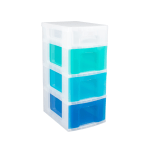"""Really Useful Box® Tower Drawers, 4 Drawers, 26 1/2""""H x 11 3/4""""W x 16 1/2""""D, Clear Blues"""
