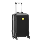 """Denco Sports Luggage Rolling Carry-On Hard Case, 20"""" x 9"""" x 13 1/2"""", Black, Michigan Wolverines"""