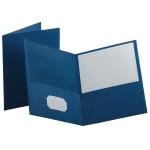Oxford Twin Pocket Portfolios Medium Blue