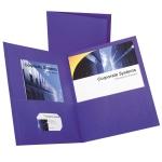 Oxford Twin Pocket Portfolios Purple Pack