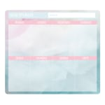 """Office Depot® Brand Weekly Mouse Pad Desk Calendar, 9"""" x 8"""", Cotton Candy, January to December 2020"""