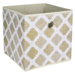 Deals on Realspace Storage Cube 12-inx 12-inx 12-in Metallic Gold Print