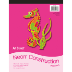 """Art Street® Construction Paper, 9"""" x 12"""", Assorted, Pad Of 20 Sheets"""