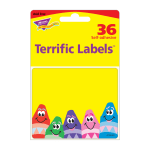"TREND Colorful Crayons Terrific Labels, T68013OD, 2 1/2"" x 3"", Assorted Colors, Pack Of 36"