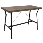 Lumisource Wishbone Industrial Counter Table Rectangular