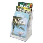 Deflecto Literature DocuHolder 4 Magazine Compartments
