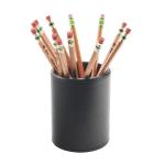 Realspace Black Faux Leather Pencil Cup