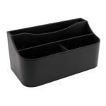 Realspace Black Faux Leather Desk Valet