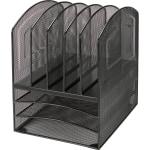 Lorell Mesh Desk Sorter 5 Compartment
