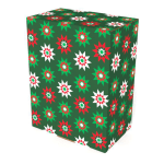 """United States Post Office Small Holiday Shipping Box, 8"""" x 5"""" x 10"""", Green/Red/White"""